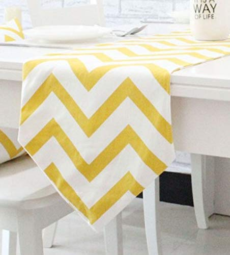 US-ROGEWIN Table Runners Elegant Refined Soft Cotton Canvas Washable Concise Gemoetric Pattern Decorative Tablecloth]()