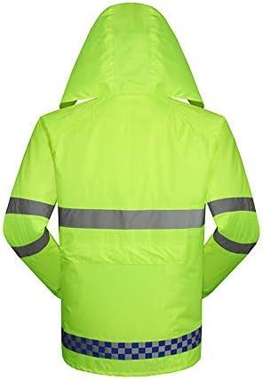 Riflettente Raincoat Adlut Waterproof Jackets Reflective Raincoat Road Traffic Safety Warning Impermeabile da Esterno (Size : XXL)