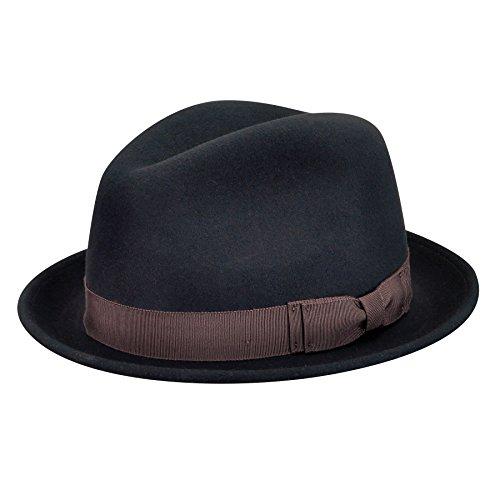 (Pantropic Men's Jordan Lite Felt Fedora Hat, Black,)