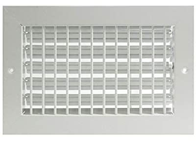 """14"""" x 10"""" ADJUSTABLE DIFFUSER - Vent Duct Cover - Grille Register - Sidewall or Cieling - High Airflow [Outer Dimensions Are 15.875"""" Width X 12"""" Height]"""