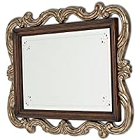 Michael Amini Platine De Royale Wall Mirror, Light Espresso