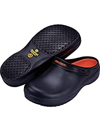 Slip Resistant Work Clogs for Men Slip Chef Shoes for Restaurant