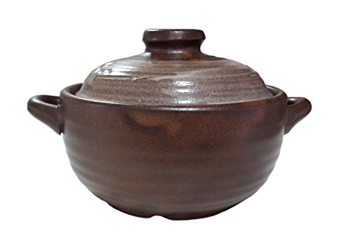 16.9oz Korean Traditional Ceramic Pot Bowl with Lid for Dolsot Bibimbap Stew Soup Boiled Dishes (Korean Ceramic Pot)
