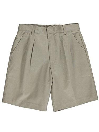 Universal School Uniform Khaki Shorts (Universal Basic Unisex Pleated Shorts - Khaki, 18 Husky)