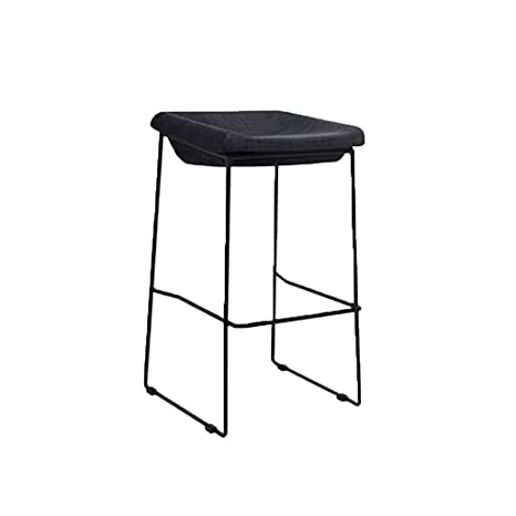 Pleasant Amazon Com Modern Retro Bar Stool Metal Frame Cotton And Onthecornerstone Fun Painted Chair Ideas Images Onthecornerstoneorg