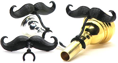 - Brasstache - Clip-on Mustache for Brass Mouthpieces, Gift for Trumpet, Trombone, Tuba, French Horn, Baritone, Euphonium Players (Baritone/Euphonium (Small))