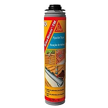 Sika Boom TM, Espuma de poliuretano para pegado detejas de aplicación manual, 750ml, Rojo