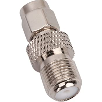 SMA Male Plug to F Female RF Coax Coaxial Connector Adapter