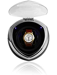 Fashion Single Automatic Watch Winder with Smart Timer Control - Black