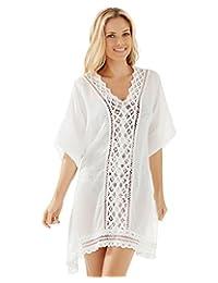 Moxeay Beach Sunscreen Bikini Cover up Dress Swimwear