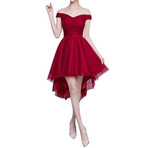 Ysmo - Vestido - Noche - para mujer rojo granate 46