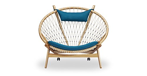 Kardiel Circle Hoop Modern Lounge Chair, Urban Surf Twill/Ash Review