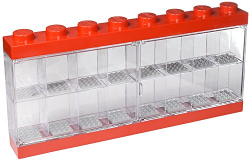 Lego Minifigure Display Case 16 Bright Red