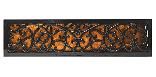 Bosmere F951 Charleston Cast Aluminum Rectangular Planter with Coco Liner