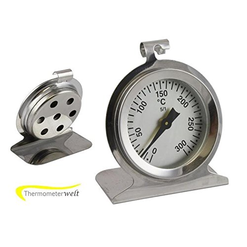 300 ° C ( Grad ) Grill / Backofen / Ofen / Küchen Analog Thermometer . Edelstahl . Temperaturanzeige Analog