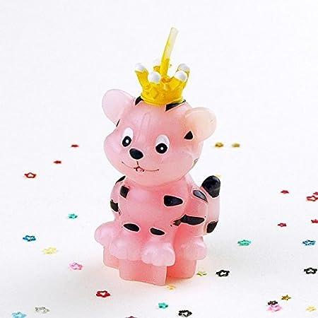 K2 Tigre cumpleaños velas Lovely rosa en forma de tigre ...