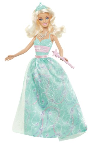 Barbie Princess Barbie Green Dress Doll - 2012 Version