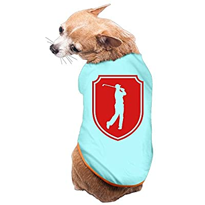 DUXA Golfer Emblem Art Printing Fashion Cute Dog Jackets