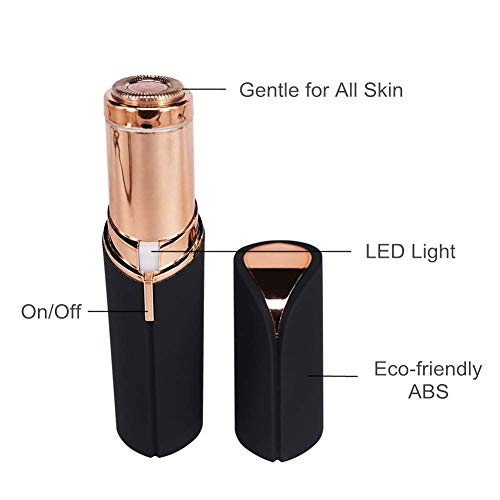MEIGUISHA Flawless Women's Painless LED Hair Remover with AA Battery, Black/Gold by MeiGuiSha (Image #2)