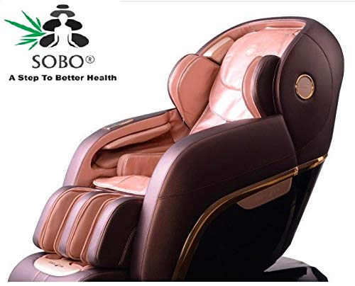 SOBO HJ07 4D Full body Massage Chair Zero Gravity for Full Body Stress Relief With InBuilt Roller Bluetooth (U Track) With One Year Warranty (BROWN)