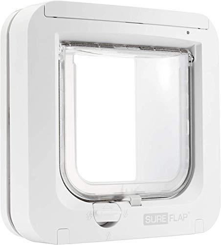 TRIXIE Gateras y Puertas para perro - Trampilla SureFlap, Microchip, 21 × 21 cm, Blanco