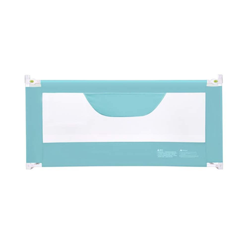 QFFL 幼児のためのベッドの柵、子供のための単一の赤ん坊のベッドの柵の監視折る安全保護ベッドの塀 - 1.5 / 1.8 / 2.0m (Color : Blue, Size : 2.0m) 2.0m Blue B07SVVHNS6