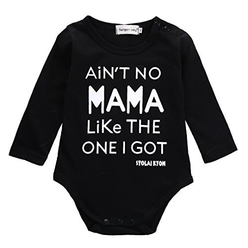 Newborn Infant Baby Boy Clothes T-shirt Aren't Mama Like The One I Get Romper Set (0-6 Months, Black)
