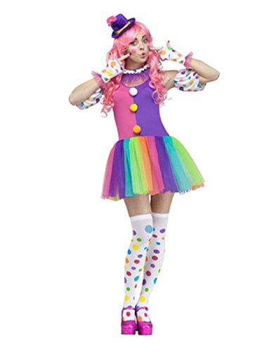 Fun World Women's Clownin' Around Adult Costume, Purple/White -