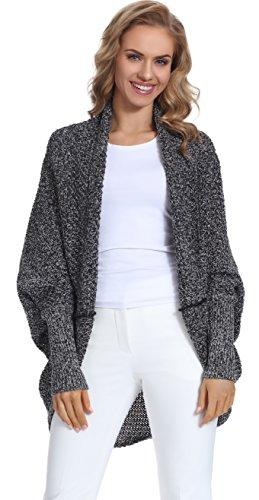 Merry Style Femme Cardigan 1L3S1 Noir/Melange