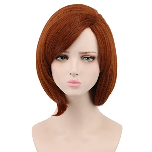 Yuehong Anime Short Brown Bob Cosplay Wig Halloween Heat Resistance Fibre Synthetic Wigs