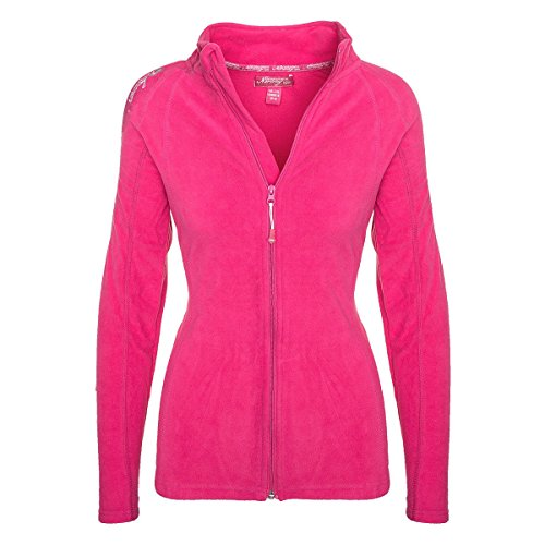 Geographical Norway Damen Fleece Jacke Übergangs Sweatjacke Pullover [GeNo-21-Pink-Gr.M]
