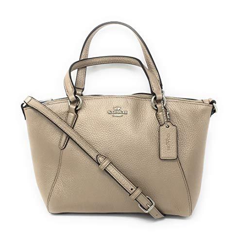 Coach Pebble Leather Mini Kelsey Satchel Crossbody Handbag (Metallic ()