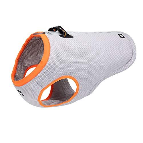 (SGODA Dog Cooling Vest Harness Cooler Jacket Grey Orange XX-Small)