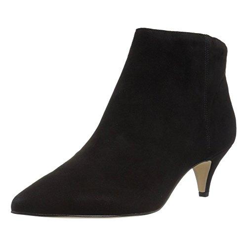 Heels MERUMOTE Kitten Black Booties Fashion Ankle Dress Mid Zipper Heel Boots Short Women's Suede Toe Pointed wTUqA