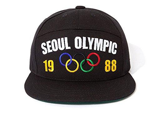 MACARON Unisex-Adult BigBang GD's Seoul Korea 88 Olympics Snapback (Oryungi(Olympic flag))