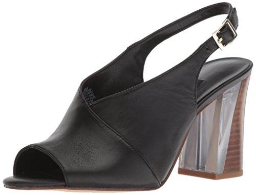 Nine West Women Morenzo Leather Heeled Sandal Black