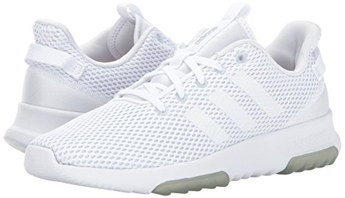 Adidas NEO Women's CF Racer TR W Road-Running-Shoes,White/White/Matte Silver,8.5 Medium US