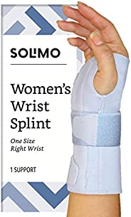 Amazon Brand - Solimo Women's Wrist Splint, Right Hand, One Size