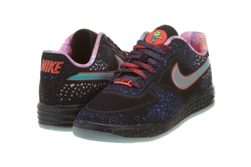 NIKE Qs Mens ForceFuse Trainer Black Silver Shoes Sport PRM Lunar Reflect qnq6IrTH