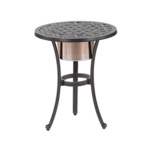 iPatio Sparta 21-inch Round Table with Ice Bucket to Keep Your Drinks Cool For Sale