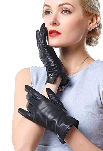 screen Tinta Unita Blackt In Fashion Impermeabili Donna Caldi Da Accogliente Pelle Guanti Winter wx7F18q8Y