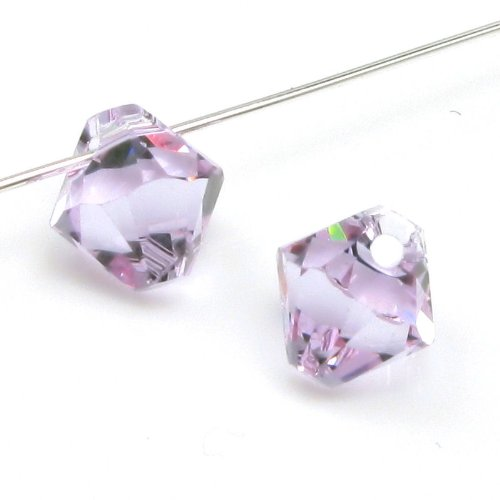 Swarovski Crystal Beads Top Drill - Dreambell 12 pcs Swarovski Elements Crystal 6328 Xilion Top Drill Bicone Bead Charm Pendant Violet 6mm / Findings / Crystallized Element