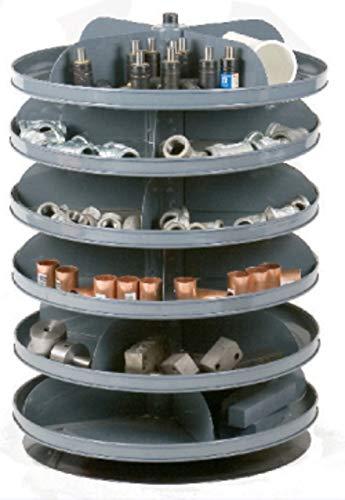 Rotabin Revolving Shelves - Durham 1106-95 Rotabin Gray Cold Rolled Steel 6 Revolving Shelves, 360lbs Capacity, 17