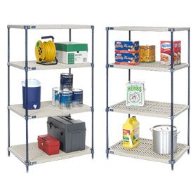 Vented Plastic Shelving 54x18x54 Nexelon Finish; [ Each Package Contains 1 ]