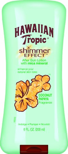 Hawaiian Tropic Shimmer Effect Moisturizing Sun Care After Sun Lotion - Coconut Papaya, 6 Ounce