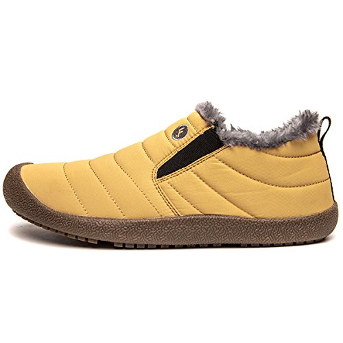 Non Sneakers Slippers shoes waterproof Dark Mens indoor mountaineer yellow slip Boots boots Winter Outdoor Womens Warm Ultimate Snow Hiking BADIER x6aYB