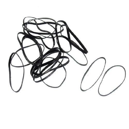 DealMux 80ピースポニーテール三つ編みホルダー伸縮性のレディヘアバンドネクタイ、黒、0.04ポンド   B01EZQYLEU