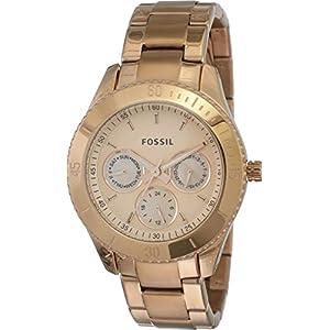 Fossil Stella Analog Rose Gold Dial Women's Watch – ES2859