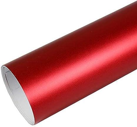 Rapid Teck 15 79 M Premium Matt Chrom Rot 50cm X 1 52m Auto Folie Blasenfrei Mit Luftkanälen Für Auto Folierung Und 3d Bekleben In Matt Glanz Und Carbon Autofolie Küche Haushalt