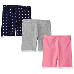 Amazon Brand – Spotted Zebra Girls' Toddler & Kids 3-Pack Bike Shorts